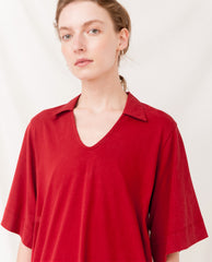 LUANA Organic Cotton Dress In Cranberry