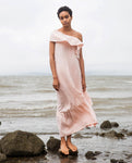 Lucy Linen Dress In Rose