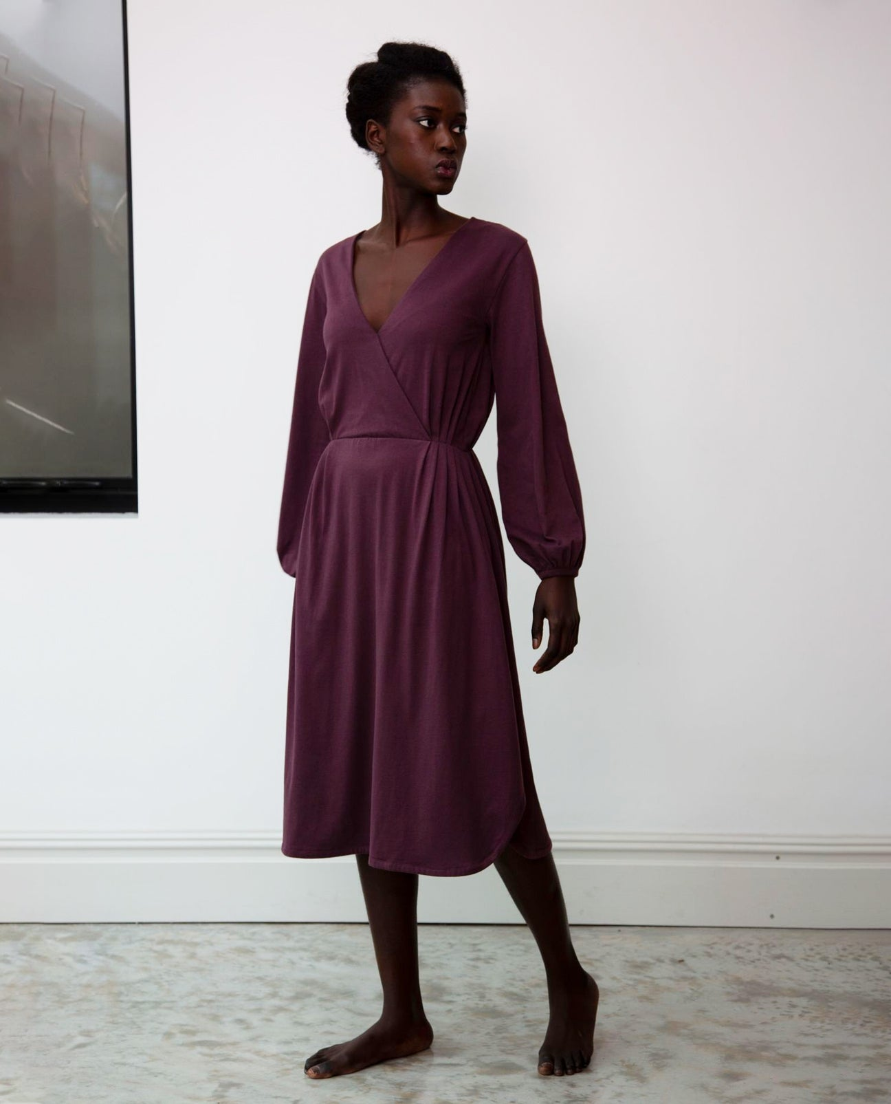 Luella Organic Cotton Dress In Plum