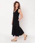 Madelyn Organic Cotton Dress In Black