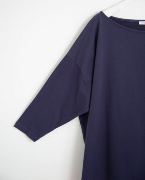 Mafalda Organic Cotton Top In Midnight