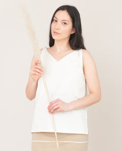 MAGGIE Organic Cotton Top In Off White