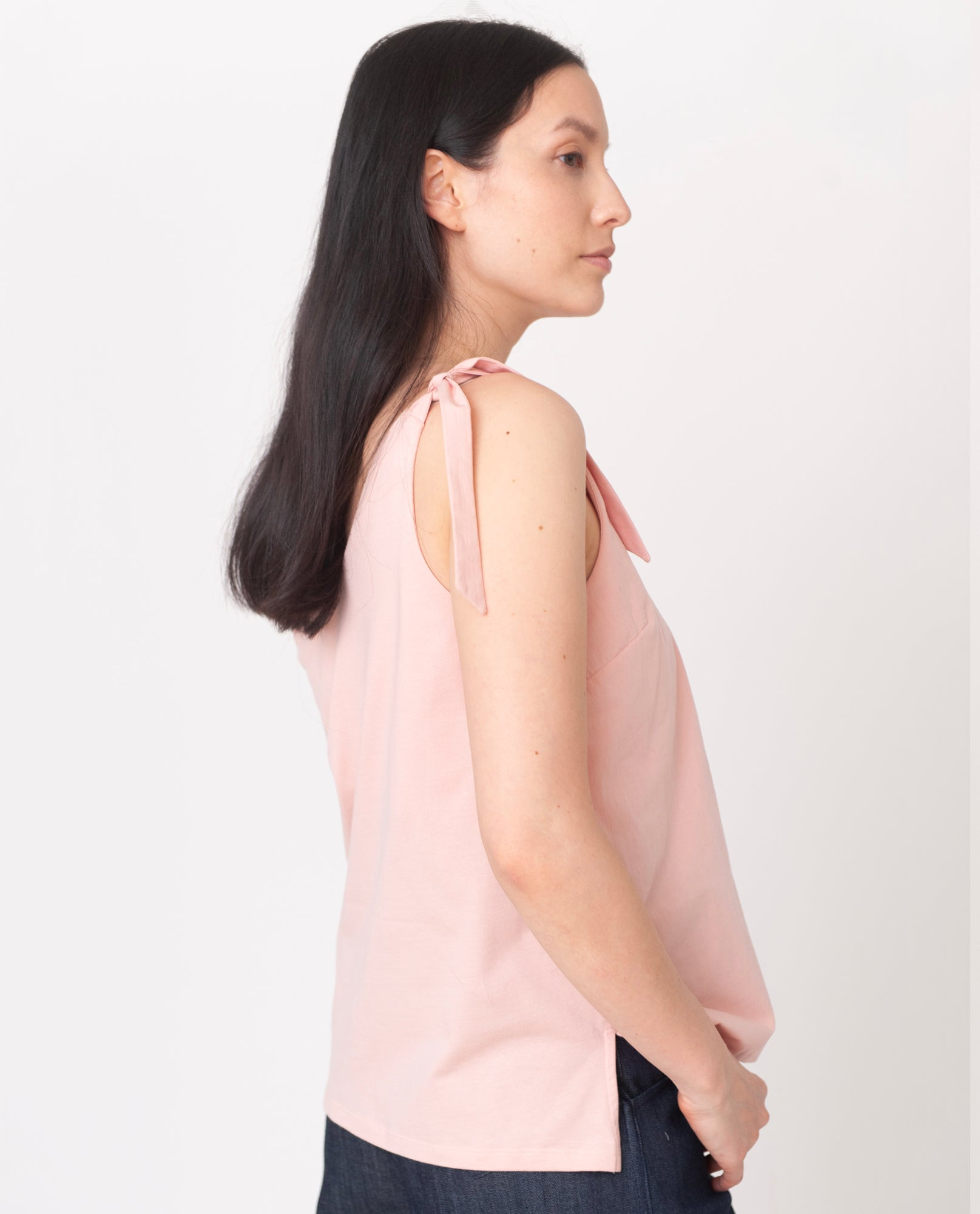 MAGGIE Organic Cotton Top In Coral