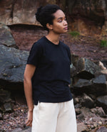 Maliah Organic Cotton Top In Black