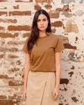 Maliah Organic Cotton Top In Tan