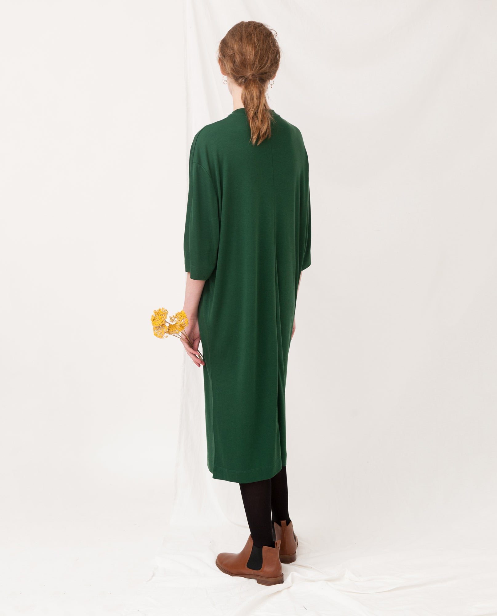 MARGAUX Lyocell Dress In Evergreen