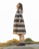 Marge-Cay Organic Cotton Dress In Bold Check