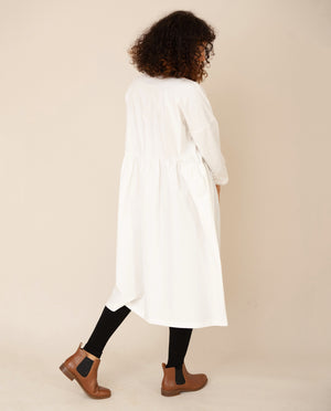 MARGE Organic Cotton Dress In Off White