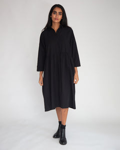 Marge Organic Cotton Dress In Black