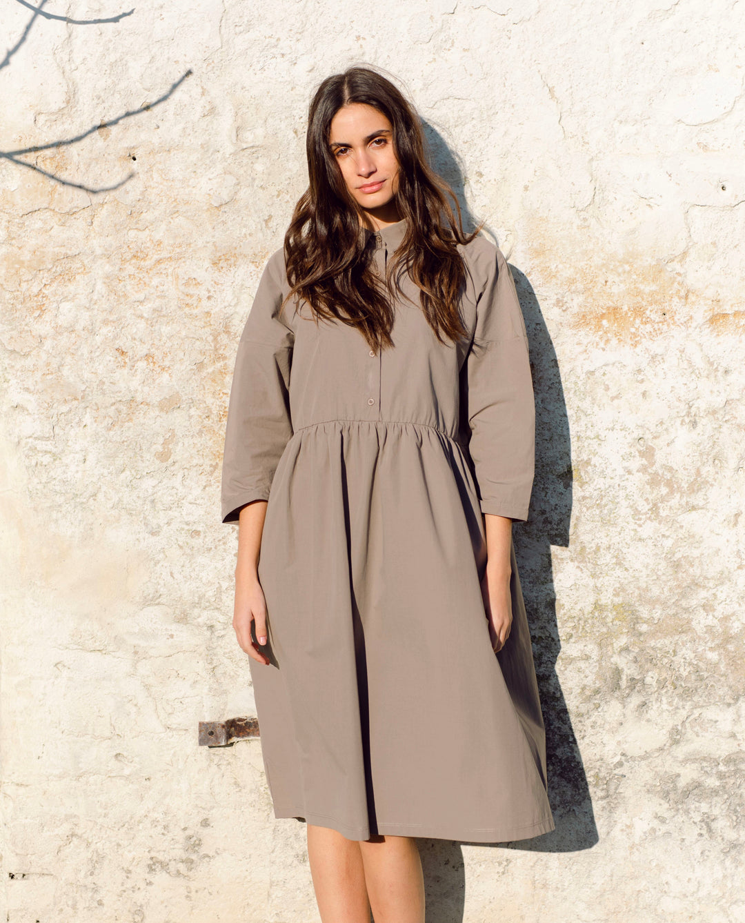 Marge Organic Cotton Dress In Olive