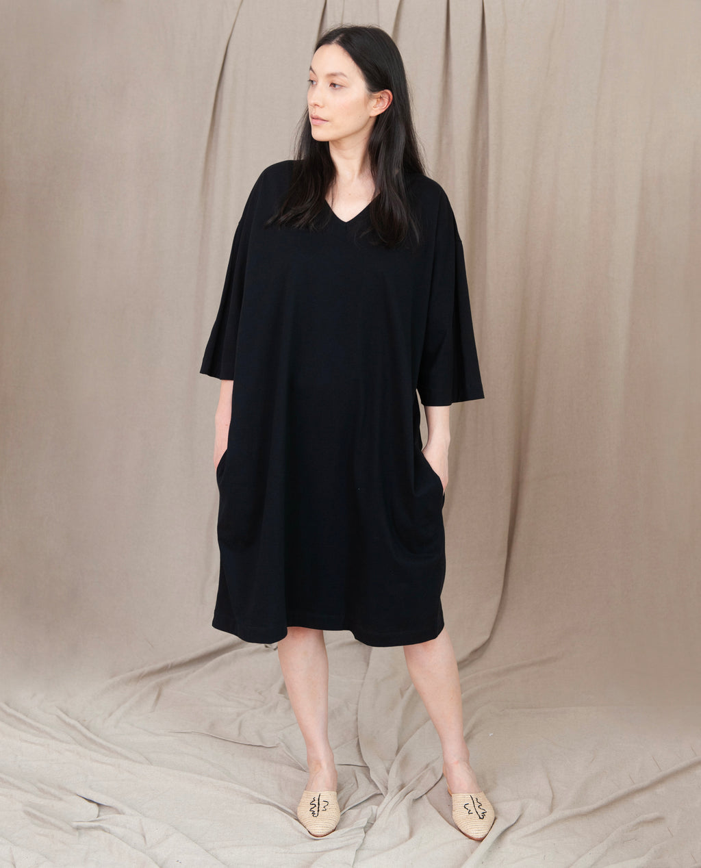 MARGO Organic Cotton Dress In Black