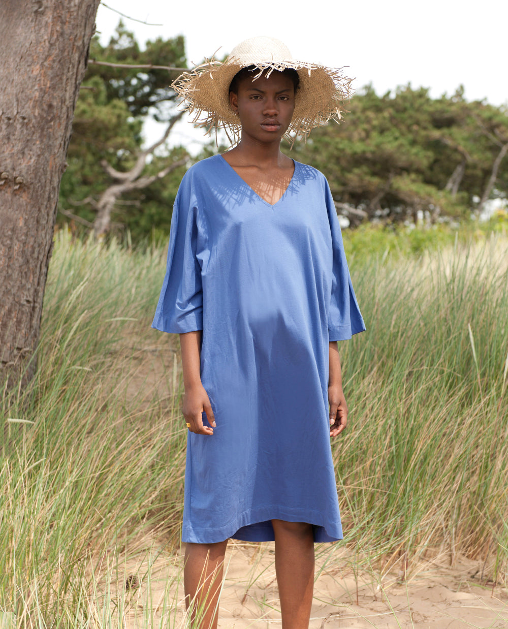 MARGO Organic Cotton Dress In Blue