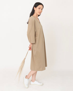 MARGO Organic Cotton Dress In Sand