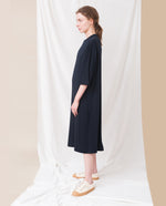 MARGAUX Lyocell Dress In Navy