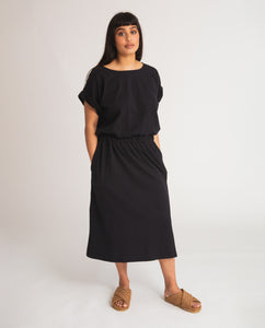 Marissa Organic Cotton Dress In Black