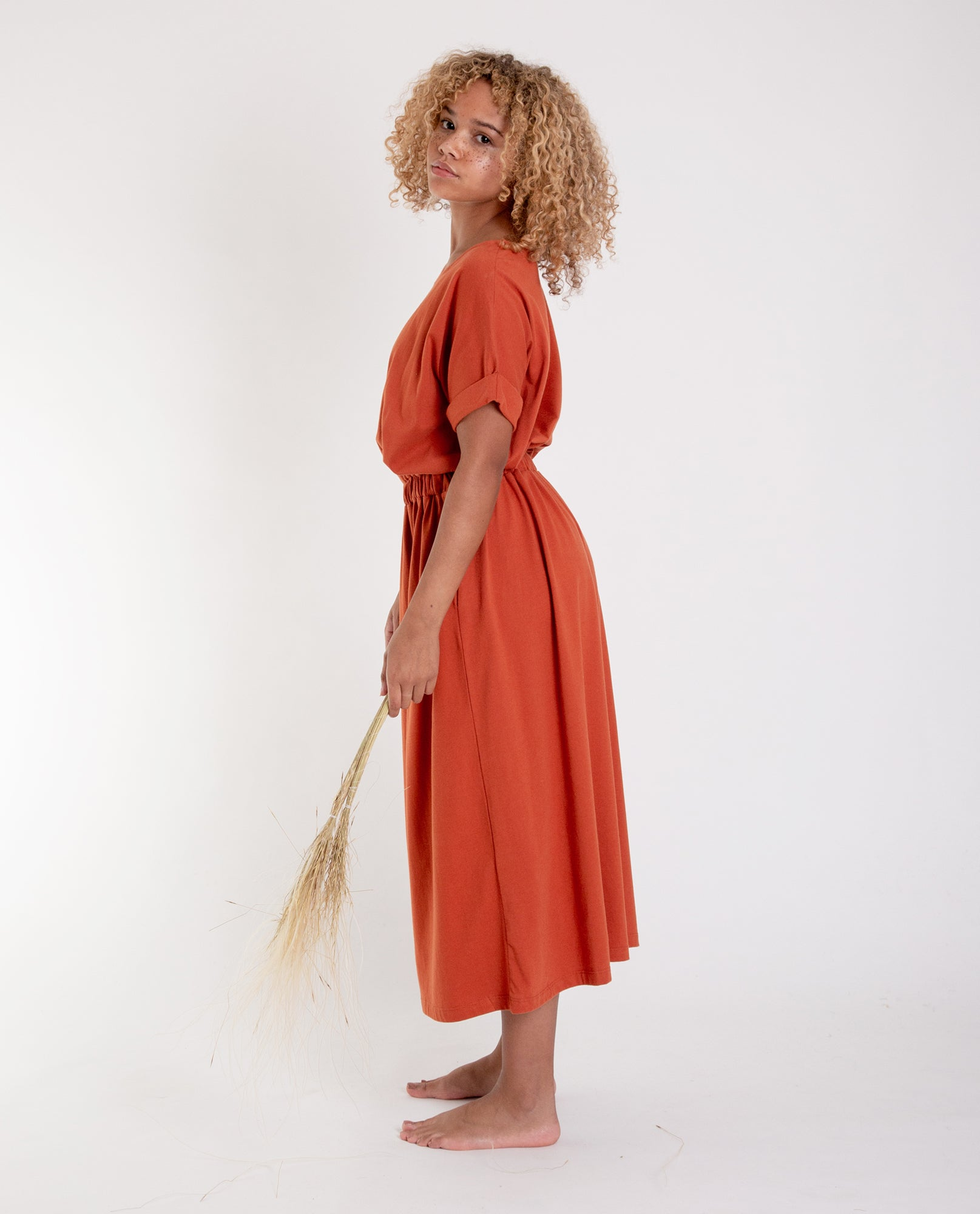 MARISSA Organic Cotton Dress In Madder
