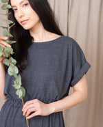 MARISSA Organic Cotton Dress In Grey Marl