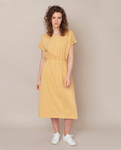 Marissa Organic Cotton Dress In Honey