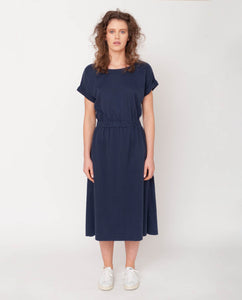 Marissa Organic Cotton Dress In Midnight