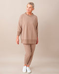 MARY Organic Cotton Top In Stone Marl