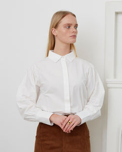 MATILDE Organic Cotton Shirt In Off White