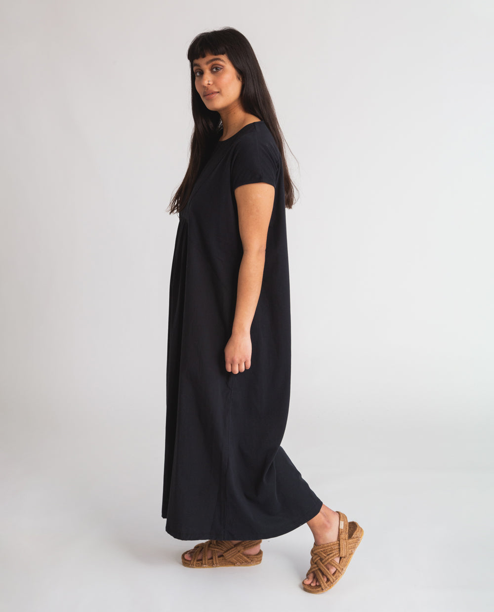 Maud Organic Cotton Dress In Black