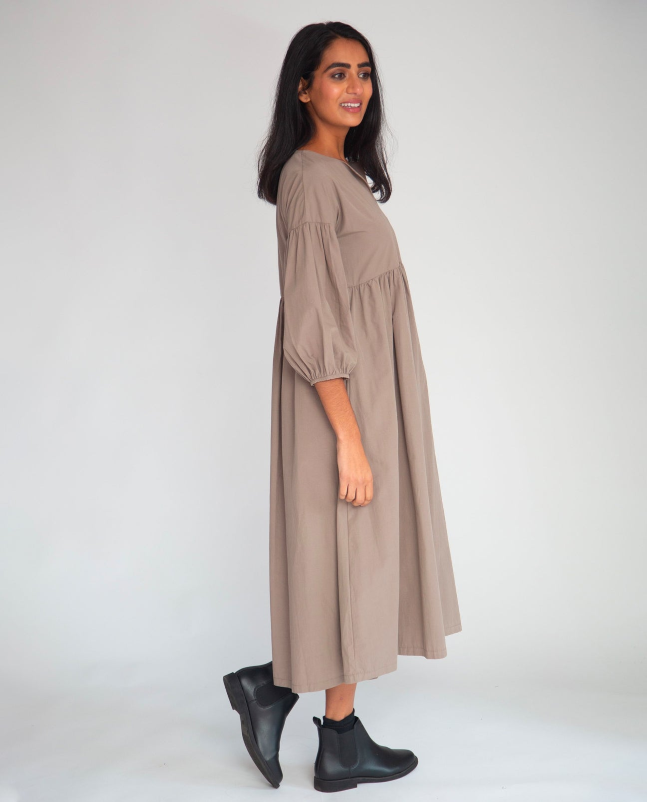 Meilani Organic Cotton Dress In Olive