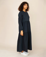 MIRABELLE Organic Cotton Dress In Deep Indigo