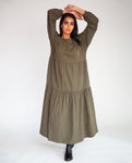 Mirabelle Organic Cotton Dress In Army
