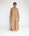 Mirabelle Organic Cotton Dress In Camel