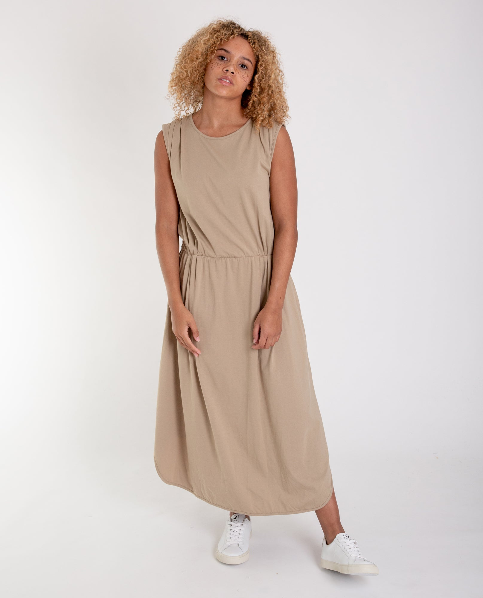 MULBERRY Organic Cotton Dress In Sand