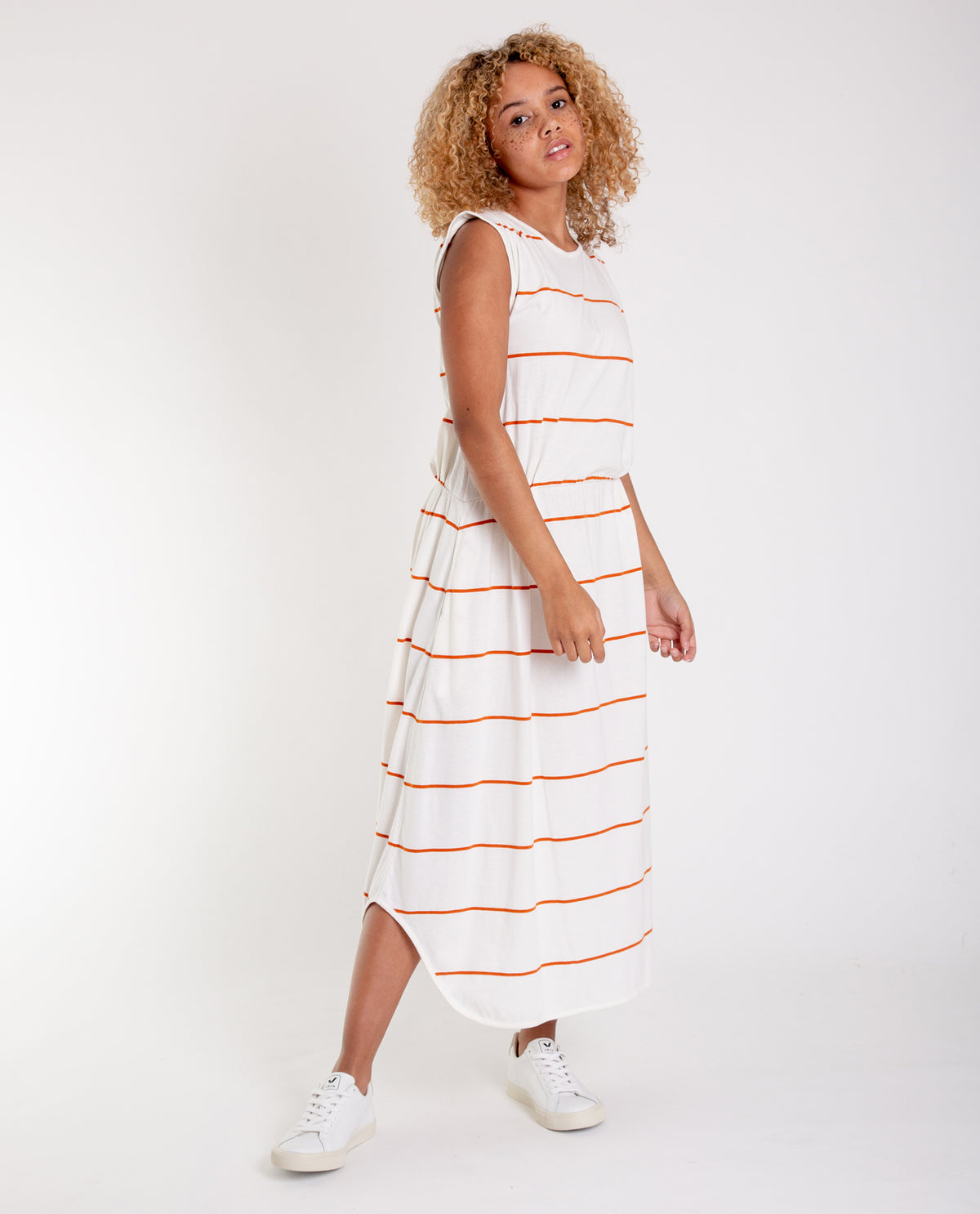 b1c76693ed15 MULBERRY-SUE Organic Cotton Dress In Off White And Madder