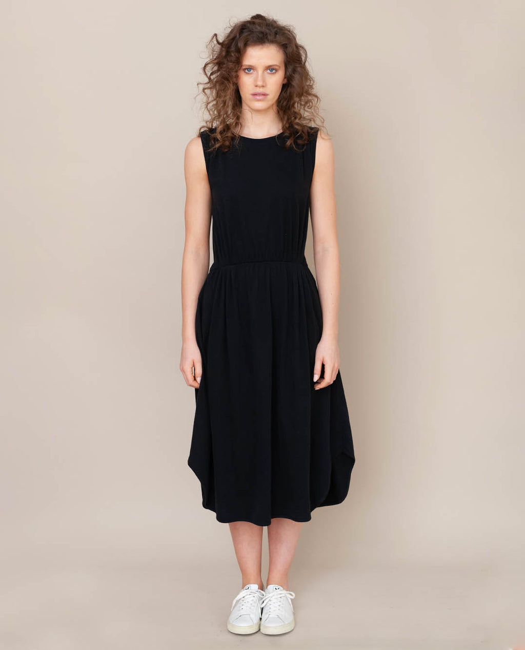 Mulberry Organic Cotton Dress In Black