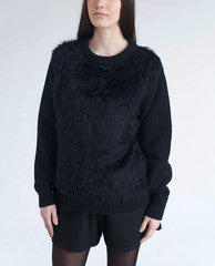 ALEXANDRA Fluffy Knitted Wool Jumper