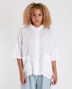 NAOMI Linen Shirt In White