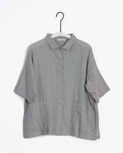 Naomi-May Organic Cotton & Linen Shirt In Dove