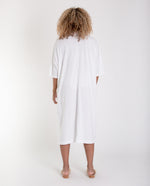 NATASHA Linen Dress In White