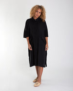 NATASHA Linen Dress In Black