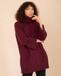 NELL Wool Jumper In Bordeaux