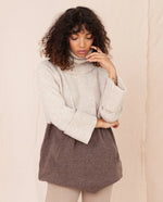 NELL Wool Jumper In Oat And Brown