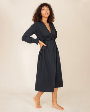 INEZ Organic Cotton Dress In Deep Indigo