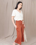 NICKY-LOU Lyocell And Cotton Trousers In Madder