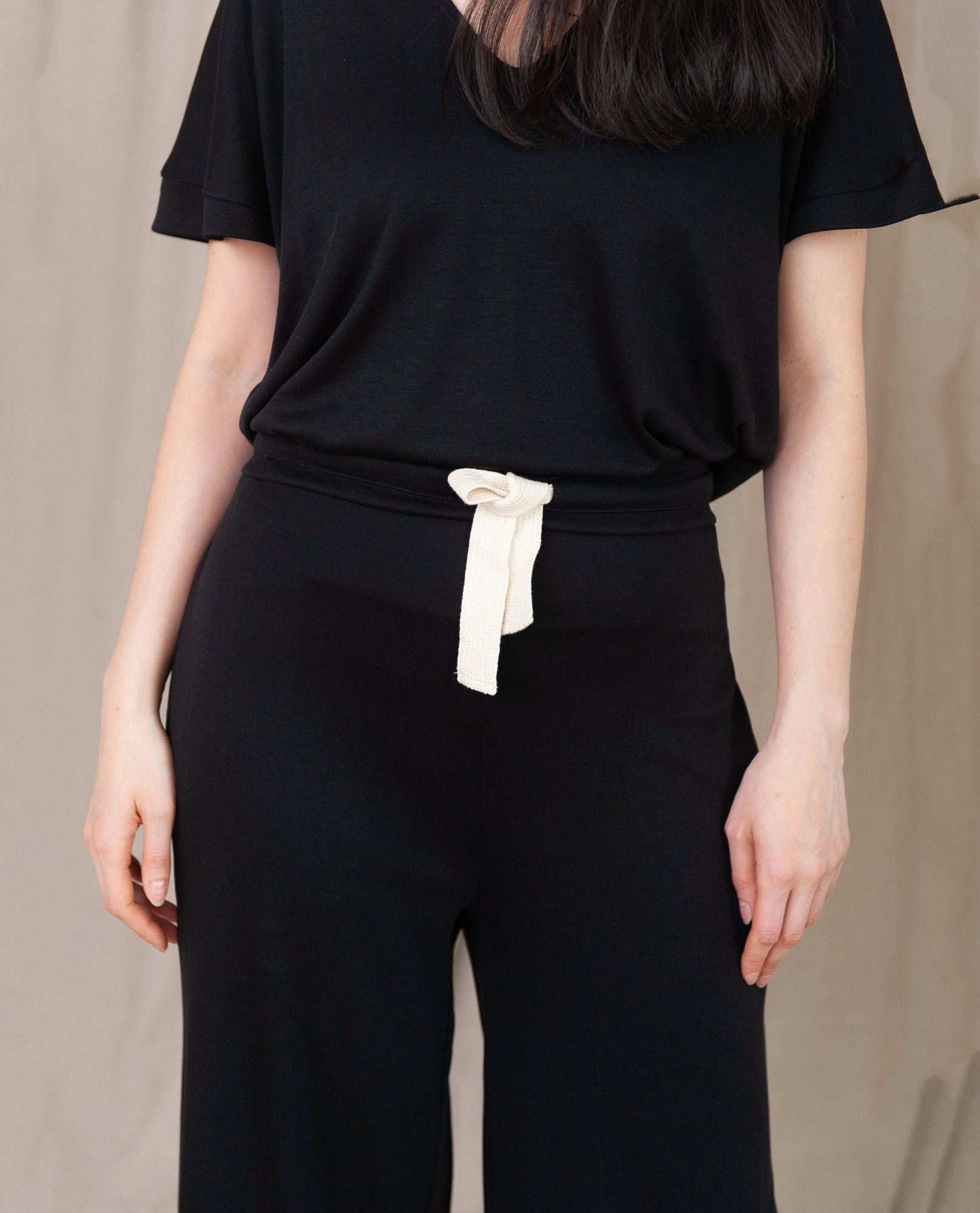 NICKY-LOU Lyocell And Cotton Trousers In Black