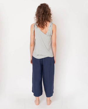 Nicole-May Linen Trouser In Midnight