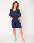 Nova Linen Jumpsuit In Midnight