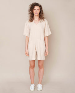 Nova Linen Jumpsuit In Bone