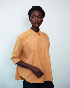 Stephanie Organic Cotton Shirt In Camel