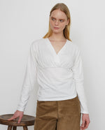 PALOMA Organic Cotton Top In Off White