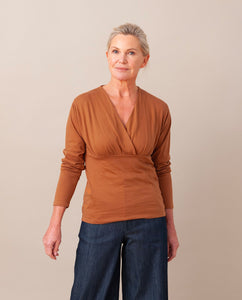 PALOMA Organic Cotton Top In Coffee