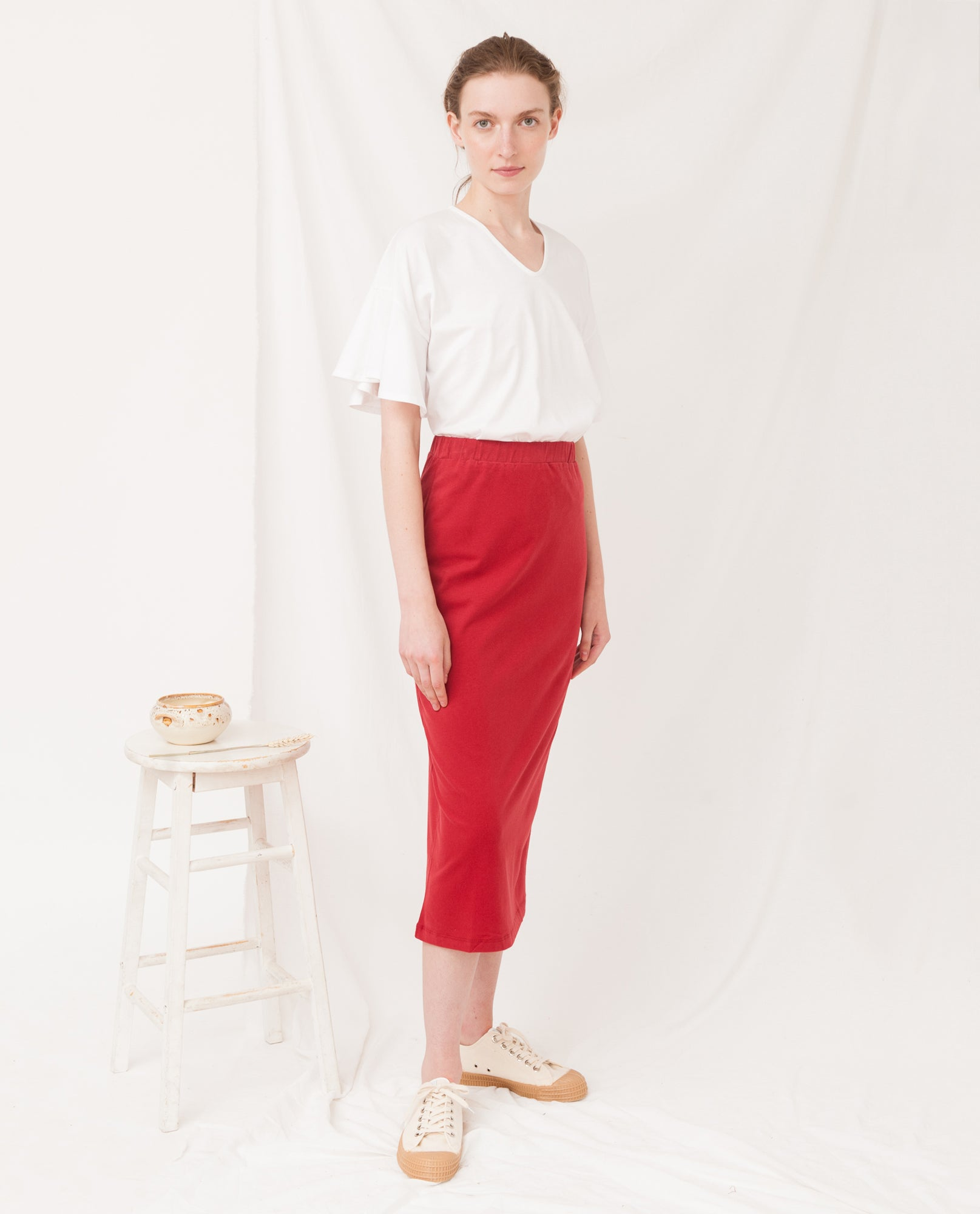 PAM Organic Cotton Skirt In Cranberry